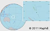 Savanna Style Location Map of Vanuatu, gray outside