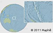 Savanna Style Location Map of Vanuatu, hill shading outside