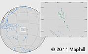Savanna Style Location Map of Vanuatu, lighten, desaturated