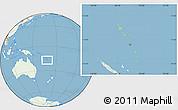 Savanna Style Location Map of Vanuatu, lighten, land only