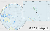 Savanna Style Location Map of Vanuatu, lighten