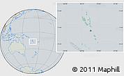 Savanna Style Location Map of Vanuatu, lighten, semi-desaturated