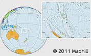 Savanna Style Location Map of Vanuatu, political outside