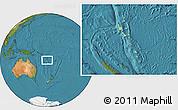 Savanna Style Location Map of Vanuatu, satellite outside