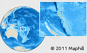 Savanna Style Location Map of Vanuatu, shaded relief outside