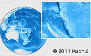 Shaded Relief Location Map of Vanuatu, lighten, land only