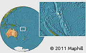 Shaded Relief Location Map of Vanuatu, satellite outside
