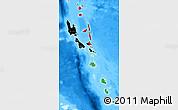 Flag Map of Vanuatu, single color outside, bathymetry sea