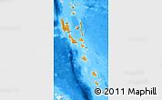 Political Map of Vanuatu, semi-desaturated, land only