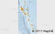 Political Shades Map of Vanuatu, lighten