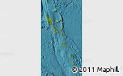 Satellite Map of Vanuatu, political shades outside, satellite sea