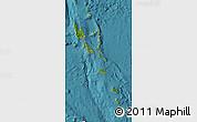 Satellite Map of Vanuatu, shaded relief outside, satellite sea