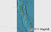 Satellite Map of Vanuatu, single color outside