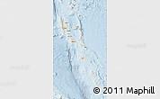 Shaded Relief Map of Vanuatu, lighten