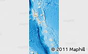 Shaded Relief Map of Vanuatu, political outside, shaded relief sea