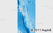 Shaded Relief Map of Vanuatu, semi-desaturated, land only