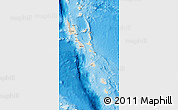 Shaded Relief Map of Vanuatu, single color outside