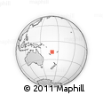 Outline Map of Vanuatu