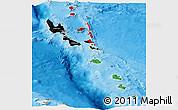 Flag Panoramic Map of Vanuatu, political outside
