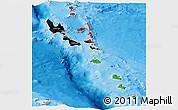 Flag Panoramic Map of Vanuatu, political shades outside
