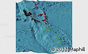 Flag Panoramic Map of Vanuatu, satellite outside