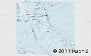 Gray Panoramic Map of Vanuatu, single color outside