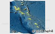 Physical Panoramic Map of Vanuatu, darken