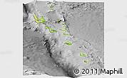 Physical Panoramic Map of Vanuatu, desaturated