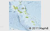 Physical Panoramic Map of Vanuatu, lighten