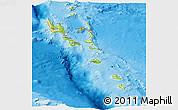 Physical Panoramic Map of Vanuatu, single color outside