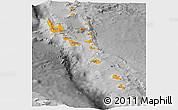 Political Panoramic Map of Vanuatu, desaturated