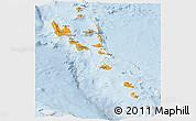 Political Panoramic Map of Vanuatu, lighten
