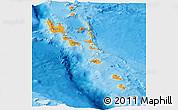 Political Panoramic Map of Vanuatu, single color outside