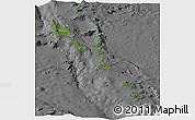 Satellite Panoramic Map of Vanuatu, desaturated