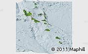 Satellite Panoramic Map of Vanuatu, lighten