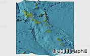 Satellite Panoramic Map of Vanuatu, physical outside, satellite sea