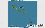 Satellite Panoramic Map of Vanuatu, semi-desaturated, land only