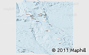 Silver Style Panoramic Map of Vanuatu