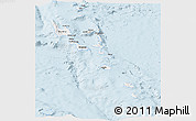 Silver Style Panoramic Map of Vanuatu, single color outside