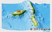 Physical Panoramic Map of Penama