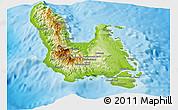 Physical Panoramic Map of Sanma
