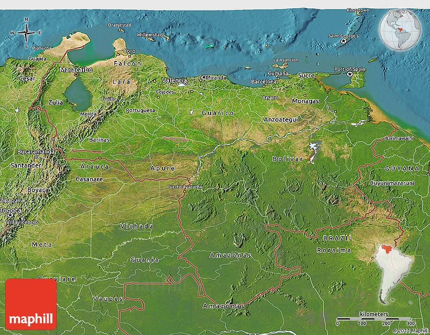 Galerry Venezuela Map and Satellite Image