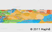 Political Shades Panoramic Map of Apure