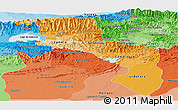 Political Shades Panoramic Map of Aragua