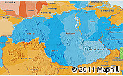 Political Shades 3D Map of Bolivar