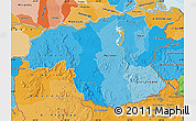 Political Shades Map of Bolivar