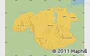 Savanna Style Map of Bolivar, single color outside