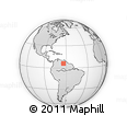 Outline Map of Bolivar