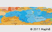 Political Shades Panoramic Map of Bolivar