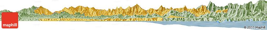 Savanna Style Horizon Map of Carabobo